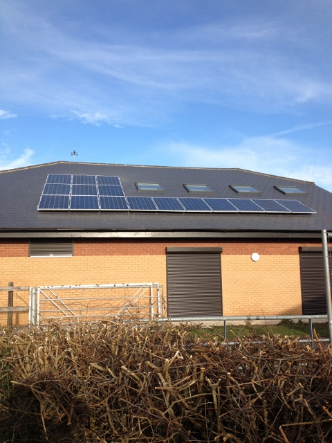 Solar Array on Fibre Cement