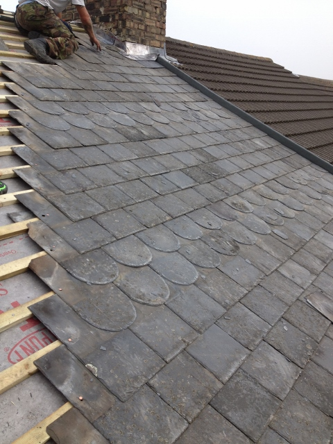 Spanish Slate with Decorative Course